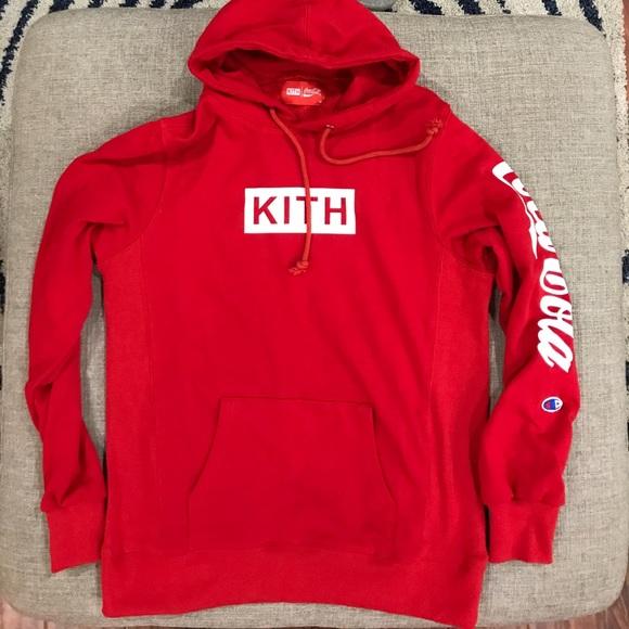 d7cb79412bf KITH X COCA-COLA men s hoody Limited red medium