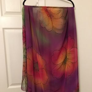 Other - Tahitian Pareo Scarf Shawl Coverup