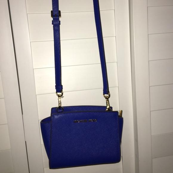 ac325a4a5f0b47 Royal blue Selma Michael kors mini crossbody. M_59f6afacc6c7951294097047
