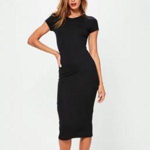 NWT Double Slit Midi Dress