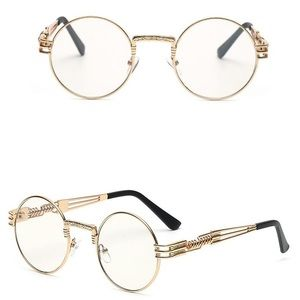 0754064e14aa TSV Jewelers Accessories - Hip Hop Og Round Gold Frame Clear Lens Glasses