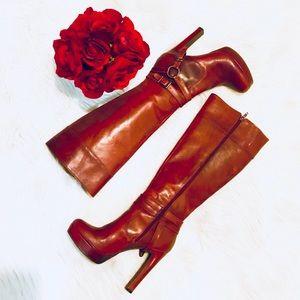 Gianni Bini Evie Platform Leather Boots