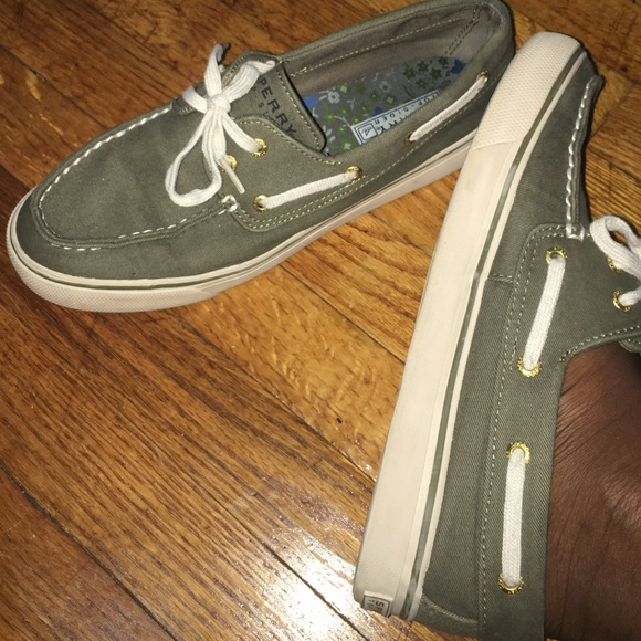Sperry Shoes | Olive Green Top Sider