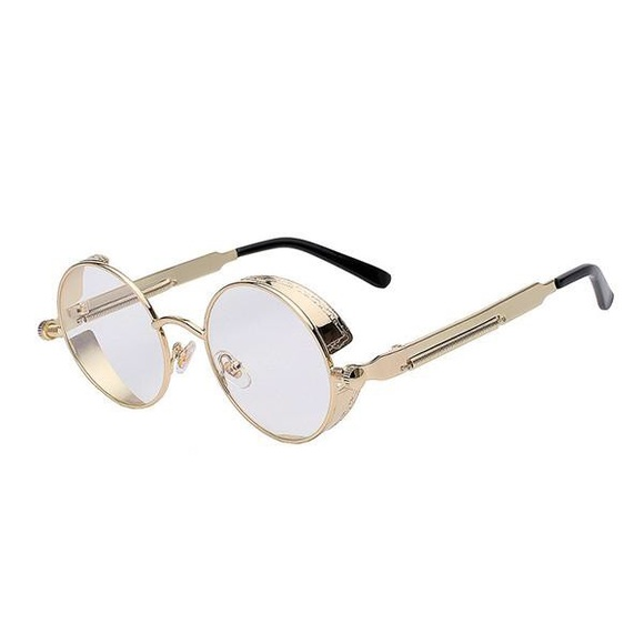 6613360d7064 Round Gold OG Frame Mens Clear Eye Glasses. Boutique. TSV Jewelers
