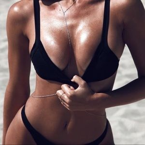 Black Coulbourne Bikini Top
