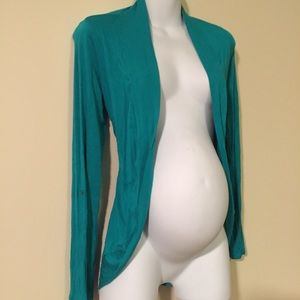 Teal Maternity cardigan jacket size small