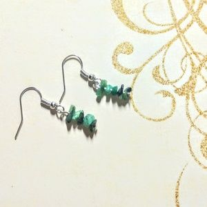 Genuine Raw SP Emerald Earrings