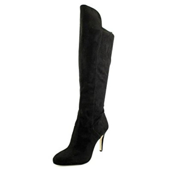 INC International Concepts Womens Tacy Almond Toe Over Knee Size 5.5 TACY-BLK Black