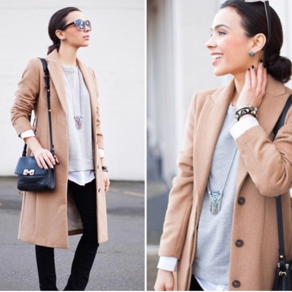H&M Jackets & Blazers - Camel Wool-blend Coat