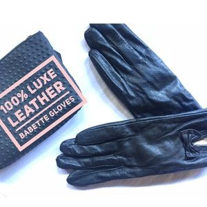 Accessories - 🔥NEW 💯% LEATHER BLACK BABETTE WINTER GLOVES🔥NWT