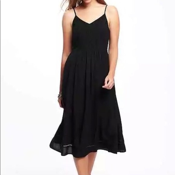 Old Navy Dresses Eyelet Trim Fit Flare Midi Dress Poshmark