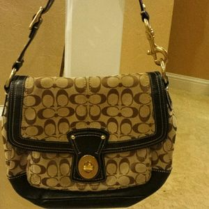 Authentic cloth and leather Coach bag