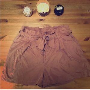 High Waist Tie Shorts H&M