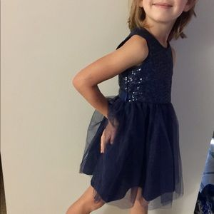 Navy Sequin Tulle Party Holiday Dress Carter's 4