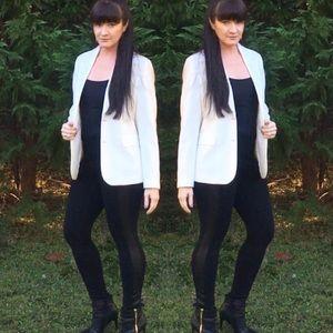 Winter White Wool Blazer