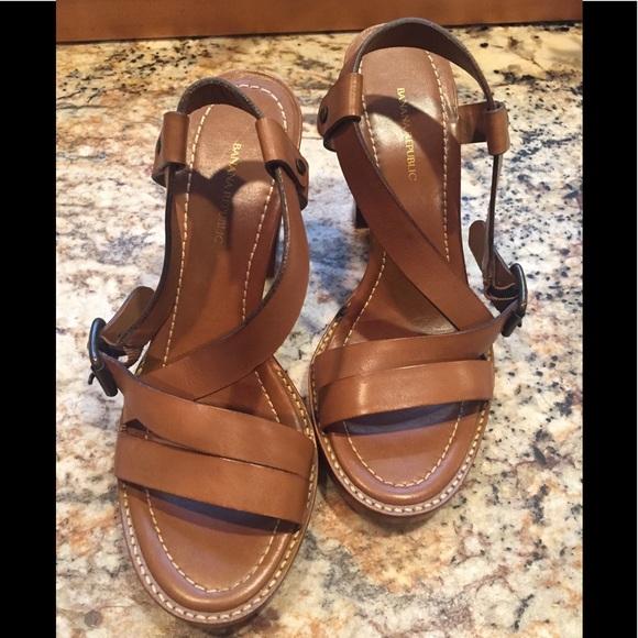 8a477248cc Banana Republic Shoes   Leather Block Heel Sandals   Poshmark