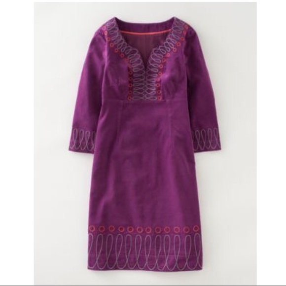 a14111cba7297 Boden Dresses & Skirts - Boden Uplifting Cord Dress in Grape Corduroy