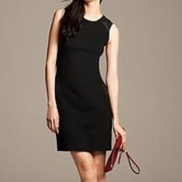 34228a79664 Banana Republic Dresses   Skirts - Banana Republic Faux Leather Trim Dress