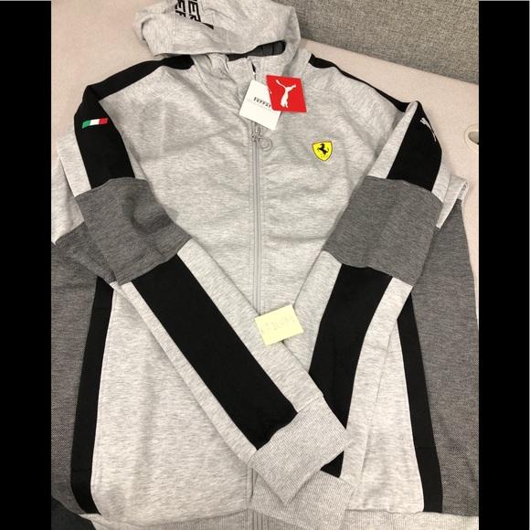 7085c4f49b5c New PUMA Men s Scuderia Ferrari full zip hoodie