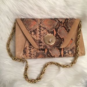 "ELLIOT LUCCA Reptile Leather ""CORDOBA"" Clutch Bag"
