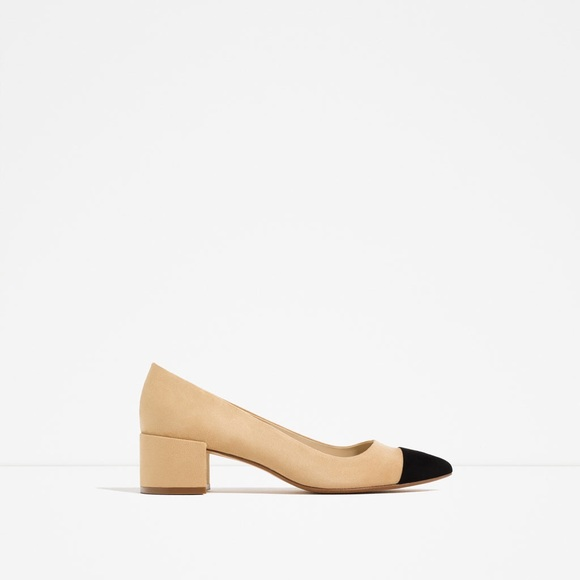 Zara Two Tone Block Heels. M 59f744b299086a065a0a8707