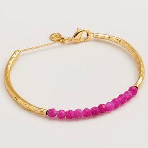 Gorjana Pink Jade Gemstone Bracelet