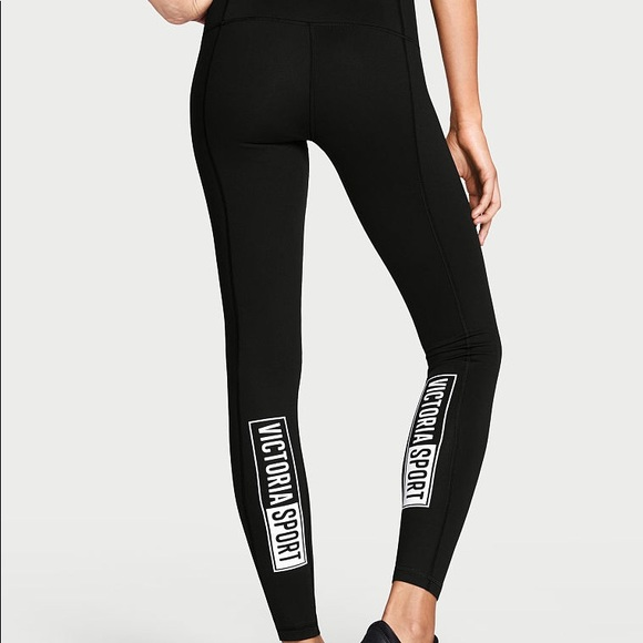vêtements de sport de performance vaste gamme de bons plans sur la mode Victoria Sport Black Reflective Leggings