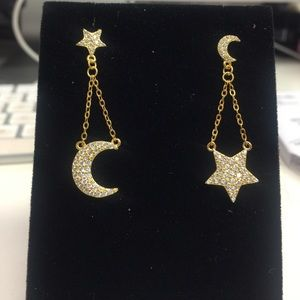 .925 SterlingSilver Vermeil Star&Moon Earring, NWT
