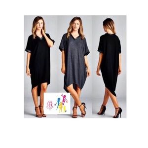 Dresses & Skirts - Charcoal- Heather Oversized Dress