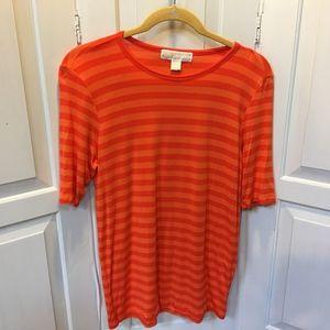 Michael Kors Orange Striped Top