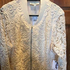 Jessica Simpson Maternity Cream Jacket
