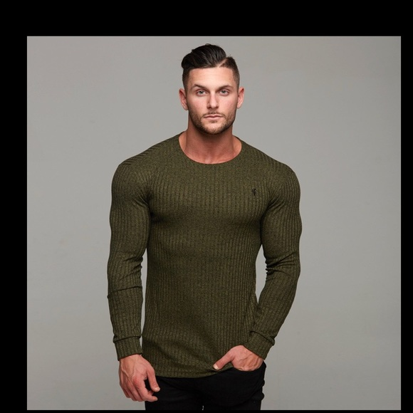 Father Sons Ribbed Green Crew Neck