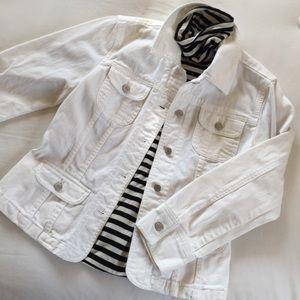J. Jill White Denim Jacket