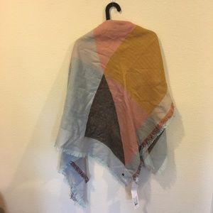 Lole Accessories - NWT Lolë acrylic blue and orange oversized scarf