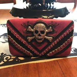 Handbags - Skull pink & black wallet