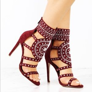 5af80cdeb1b 🔥🔥 NEW HOT Burgandy DIAMENTE CLEOPATRA HEEL 🔥🔥 Boutique
