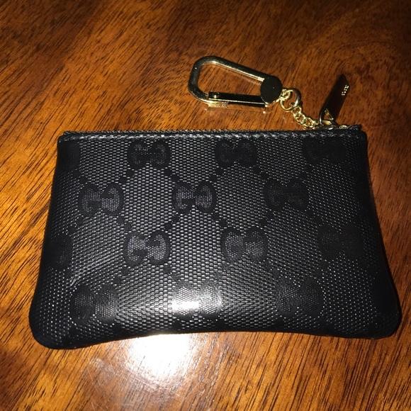 feb1fb3cd7f Gucci Accessories - Gucci GG logo coin purse wallet key chain fob