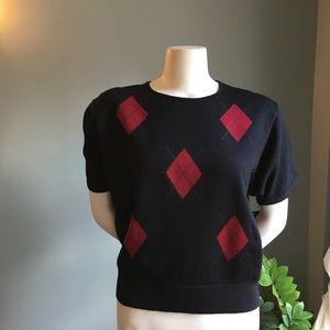 Pendleton argyle short sleeve sweater