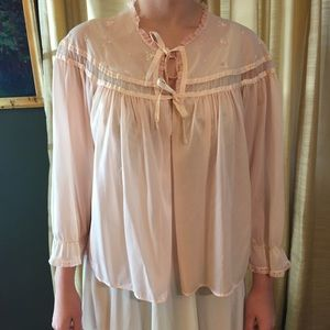 Vintage Bed Jacket. Size Small