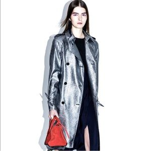 PHILLIP LIM lame metallic trench coat
