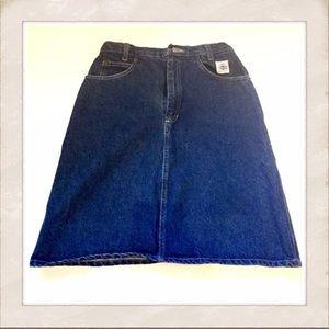 Vintage Denim A Line Skirt, High Waisted, Small