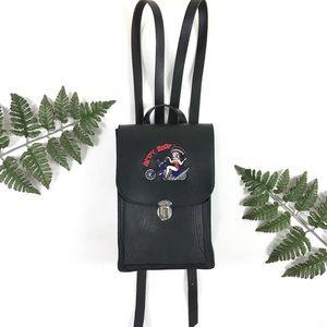 1990s Betty Boop leather backpack VTG biker purse