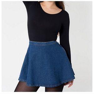 American Apparel Denim Skater Circle Skirt, Small