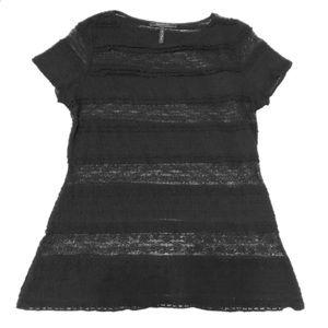 BCBG MAXAZRIA S/S Dress Shirt (Size L)