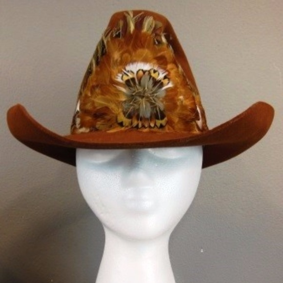 94e3273d105 Vintage Billy Kid-Stetson Hat IOB Feather Band 7. M 59f76bb83c6f9f9d410b2a84