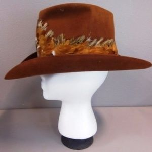 3501869db50 Stetson Accessories - Vintage Billy Kid-Stetson Hat IOB Feather Band 7