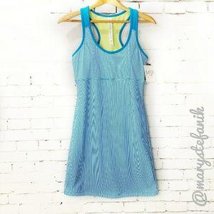 {New} NWT MSP Miraclesuit Stripe Racerback Dress S