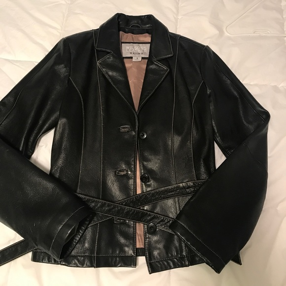 3a6fc2476 Wilson leather women's leather jacket with belt
