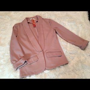 Blush Pink Blazer. Size Small