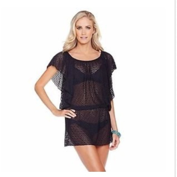 31c5643ec77df Jessica Simpson Other - Jessica Simpson Black Crochet Swimsuit Cover Up